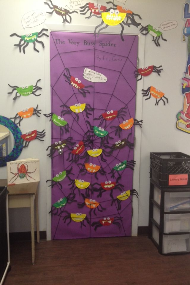 The Very Busy Spider.         Eric Carle   Door Decorating in grade one