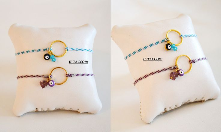 Bracelets, round gold elements, semiprecious beads, evil eyes, cords!!! Spring time!!! Il Tacco!!!
