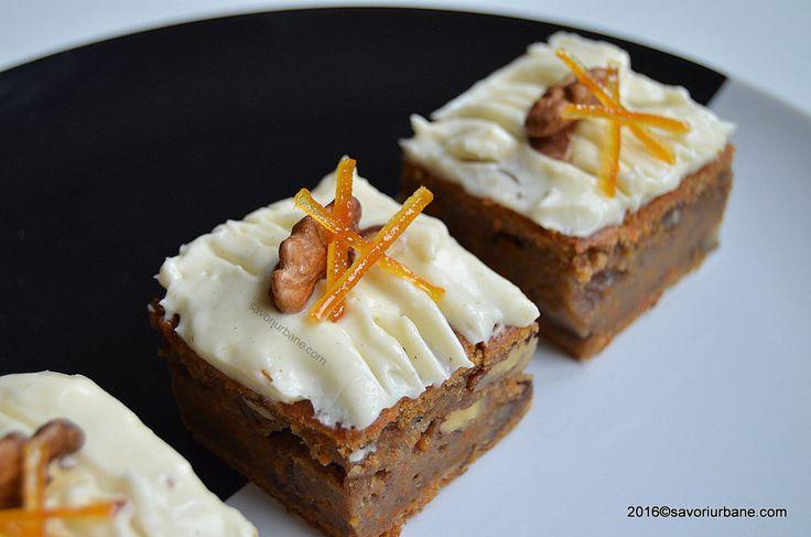 Prajitura cu morcovi si glazura carrot cake. O prajitura simpla, frageda, aromata si foarte gustoasa. Glazura de mascarpone sau crema de branza Philadelphia