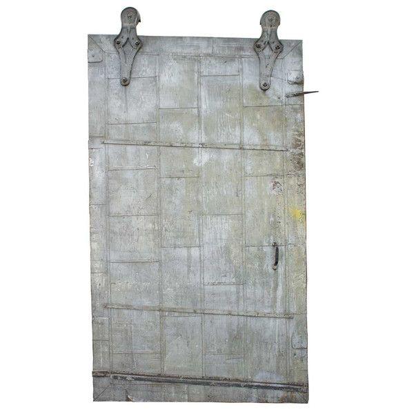 Vintage Industrial Fire Doors : American willis industrial painted sheet metal clad track