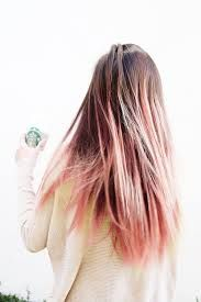 pastel pink highlights in brown hair - Google Search