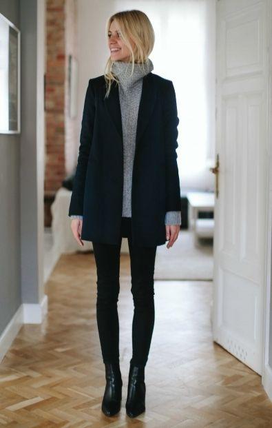 PREMIUM Granatowy płaszcz - Wszystkie - MLE Collection