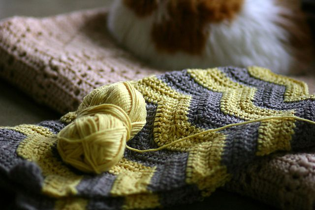 Sonotcool S Sunshine And Clouds Ripple Afghan Easy