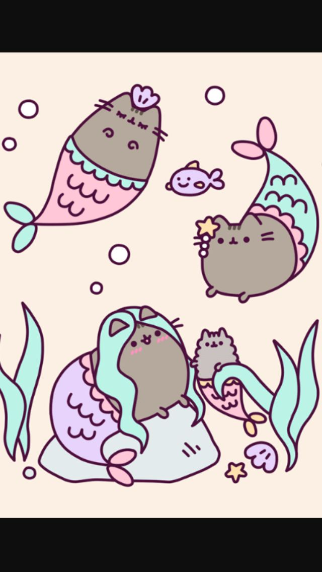 Mermaid Pusheens