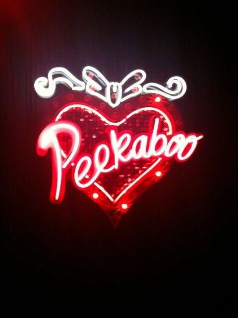 'PEEKABOO'                                                                                                                      NEON SIGN                                                                                                                      ๑෴MustBaSign෴๑