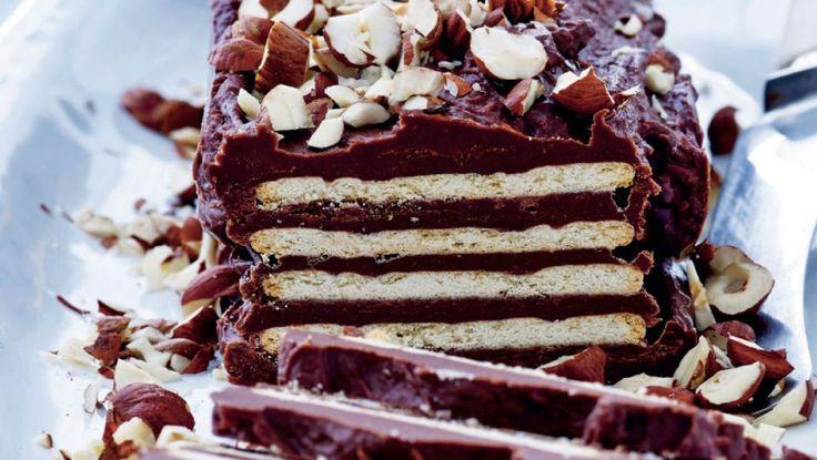 Kiksekage i luksusudgave. Med kondenseret mælk og rigtig chokolade.
