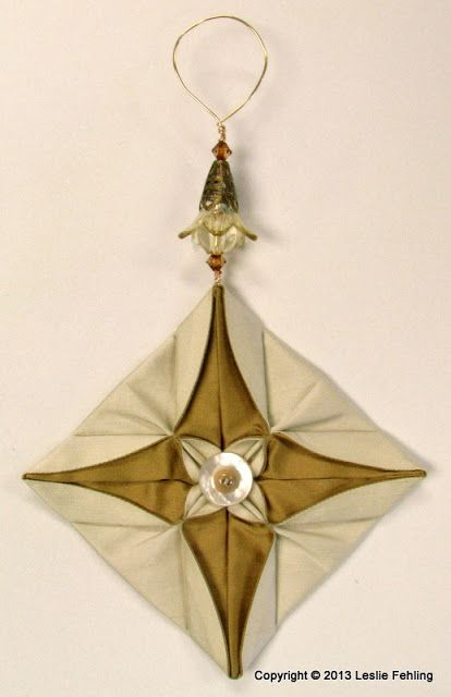 Everyday Artist: Fabric Origami - The Prettiest Ornaments On the Tr...