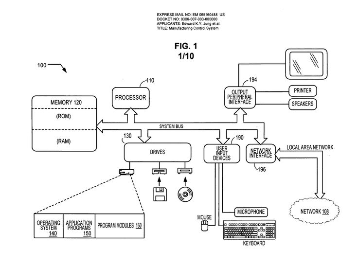 The patent basically covers the idea of digital rights management, or DRM, for 3-D printers.