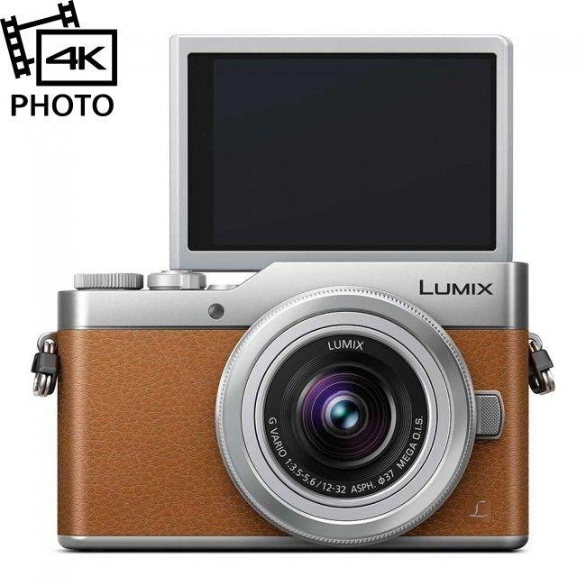 Panasonic Lumix DC-GX800 + 12-32/3.5-5.6 OIS, Brun