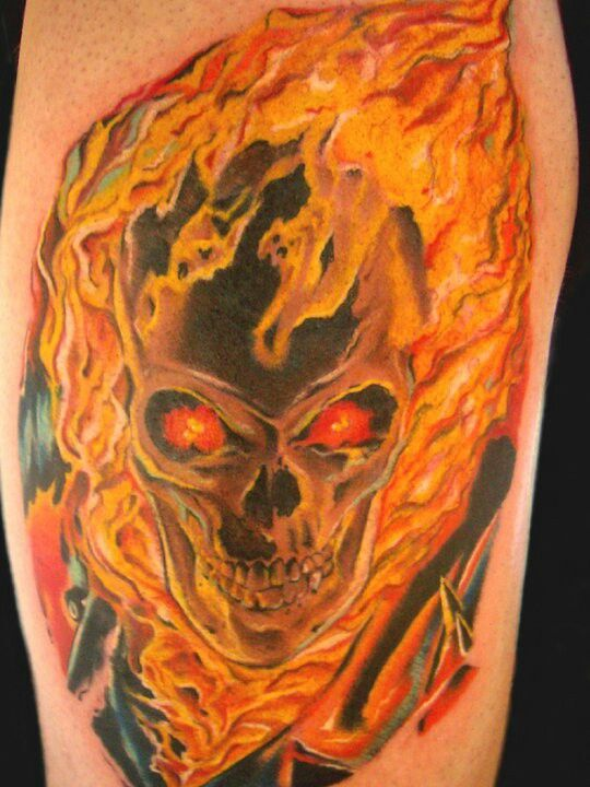 ghost rider tattoos body art ink pinterest