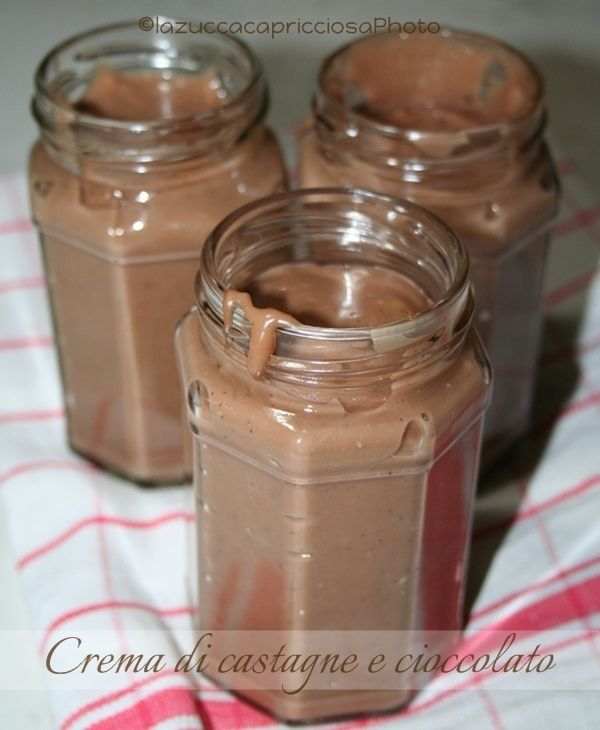 La zucca capricciosa: Crema di castagne e cioccolato