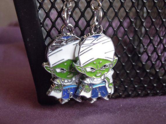 Piccolo Earrings Dragonball Z Anime Geek Jewelry by laminartz, $6.00