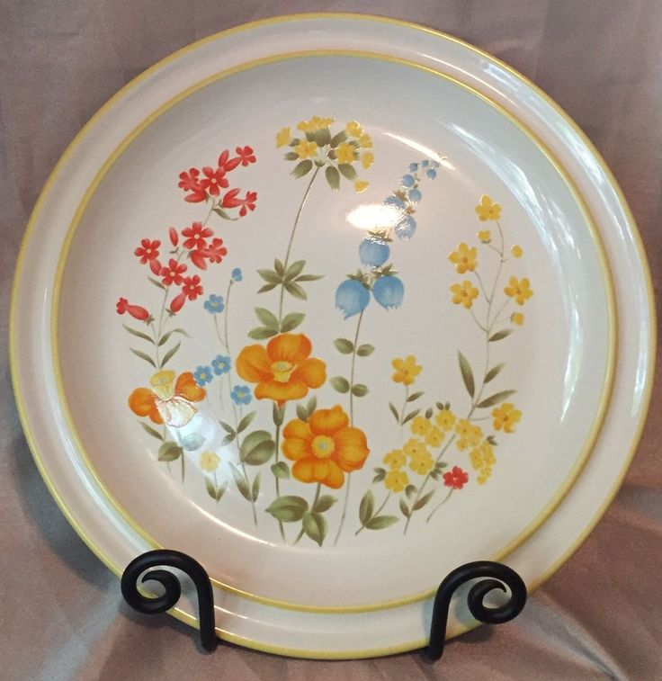 "VTG Mastercraft Stoneware Plate Platter BROCKTON SY-6025 Japan 12"" Floral Retro #MastercraftStoneware"