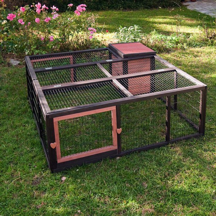 Les 25 meilleures id es de la cat gorie enclos lapin sur for Cage exterieur pour lapin