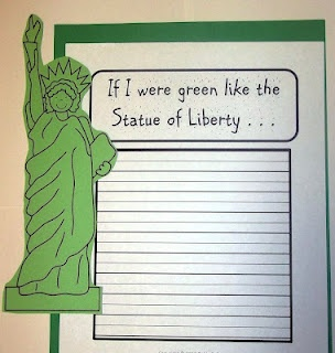 Architectural short write statue of liberty