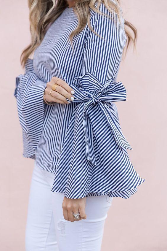 Maneras de combinar blusas con mangas acampanadas - Beauty and fashion ideas Fashion Trends, Latest Fashion Ideas and Style Tips