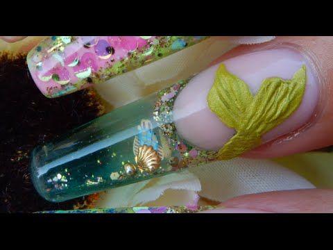 New Aquarium Nails IN MOTION !! -----Yes , Aquariums in MOTION - (GELS )