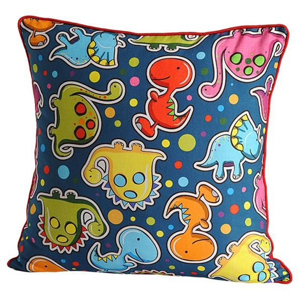 Little Dinos Kids Cushion Covers- Dinosaurs may have extinct long time back, but their fascination still boggles the young mind.