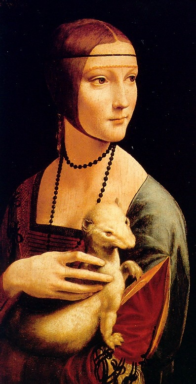 "Me encanta este cuadro*** ""La dama del armiño"". Leonardo da Vinci ""La dama con l'ermellino"" / 54,8 cm x 40,3 cm / oil on canvas / 1488-1490 / Museo Czartoryski Cracovia (Polonia)"