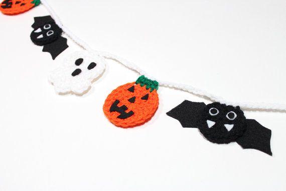 Halloween Garland Crochet Bunting Fall Party by MsAmandaJayne