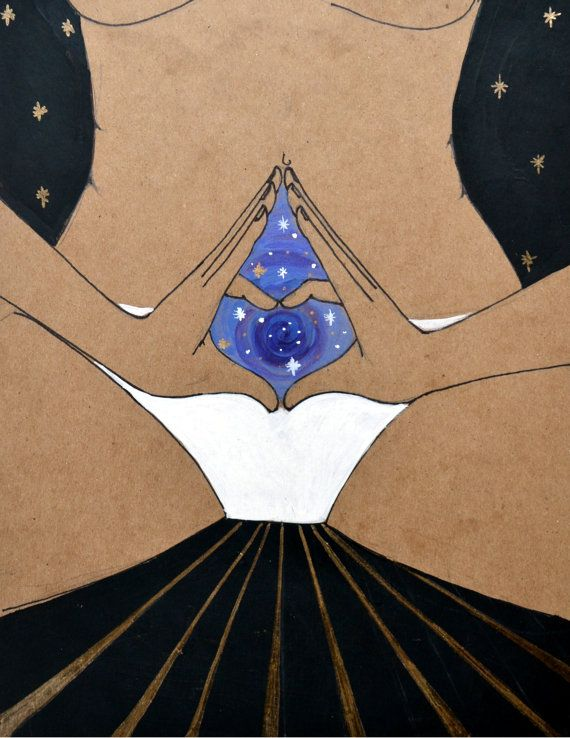 YONIVERSE- chakra/ yoga art/ yoga/ meditation/ divine feminine/ goddess art/ yoni