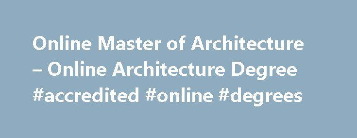 architectural degree online