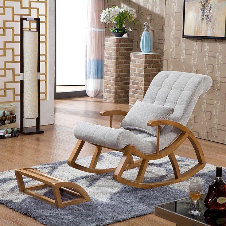 Chinês de madeira de balanço de madeira cadeira de balanço cadeira espreguiçadeira cadeiras de varanda para os idosos em   de   no AliExpress.com | Alibaba Group