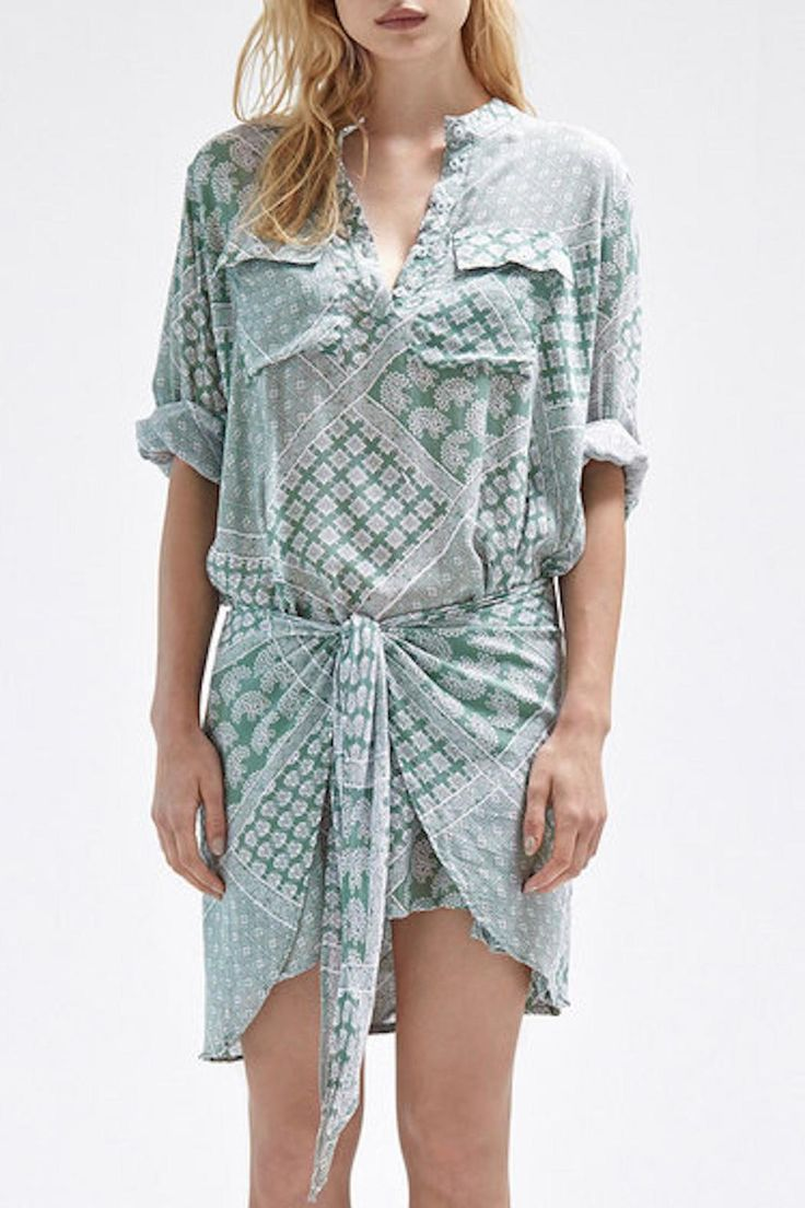 Luxe button-up shirt dress with high-waisted wrap tie.   Solane Shirt Dress by Steele. Clothing - Dresses - Printed Clothing - Dresses - Casual Clothing - Dresses - Long Sleeve New South Wales, Australia