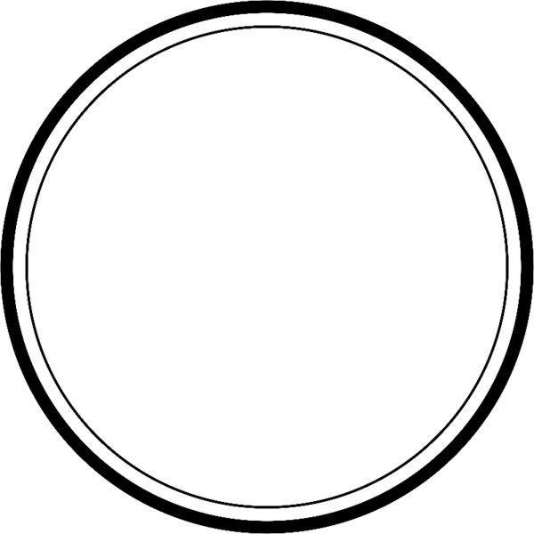 Circle With Thick And Thin Outline Liked On Polyvore Desain Logo Restoran Desain Logo Kartu Nama