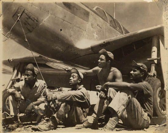 Tuskegee Airmen, WWII (collection of Tuskegee University Archives)