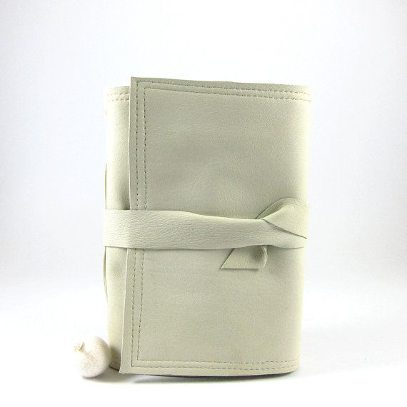 Recycled leather journal from soft bound notebook with by palepink, kr275.00