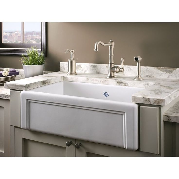 Rohl Shaws Single Basin Farmhouse Fireclay Kitchen Sink With Decorati White  Fixture Kitchen Sink Fireclay