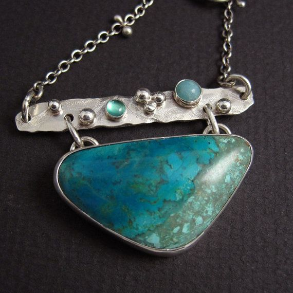 Chrysocolla and Sterling Silver Necklace