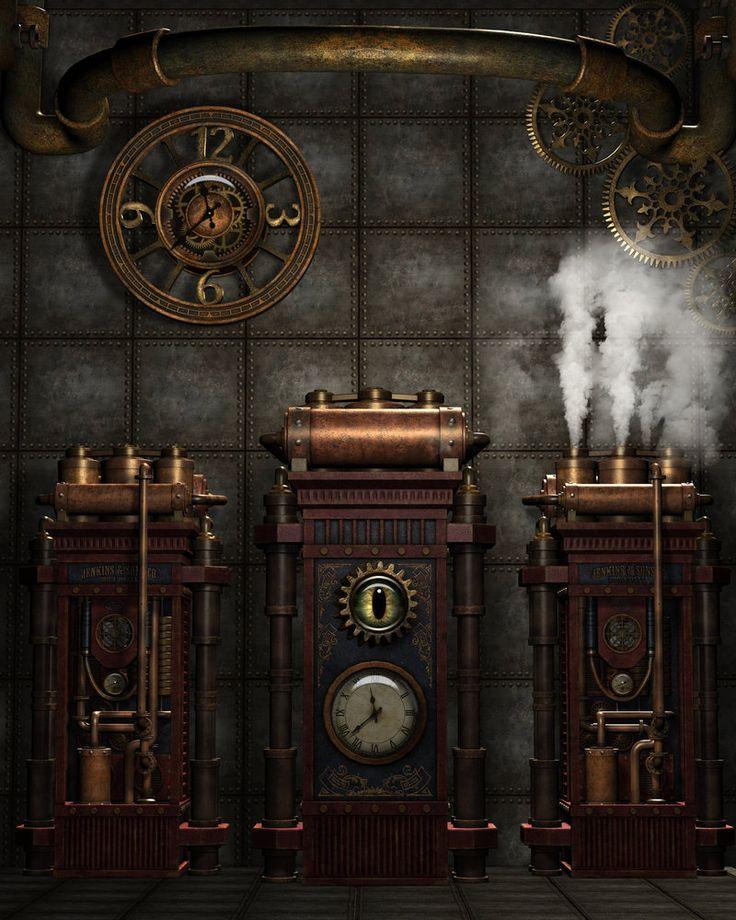 Steampunk Background 4 by Kachinadoll.deviantart.com on @DeviantArt