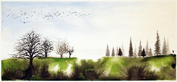 Spring dawn by InkingArt.deviantart.com on @DeviantArt