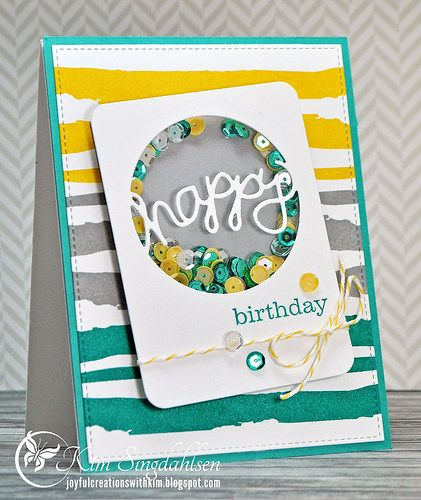 Joyful Creations with Kim: Color Throwdown and The Challenge: Birthday Shaker