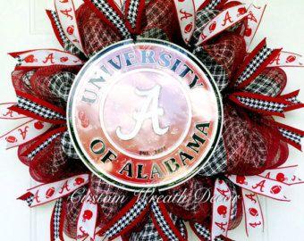 Alabama Wreath, Crimson Tide Wreath, Alabama Football Wreath, Bama Wreath, College Wreath, Alabama Deco Mesh Wreath