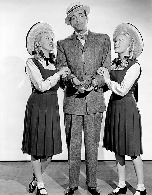 """Betty Grable, John Payne and June Have. The movie is """"The Dolly Sisters"""" by Vintage-Stars, via Flickr"""