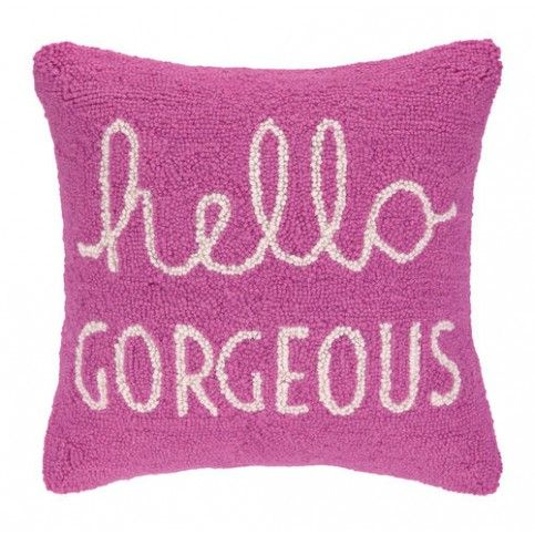 THE WELL APPOINTED HOUSE - Luxury Home Decor- Hello Gorgeous Pink Hook Pillow
