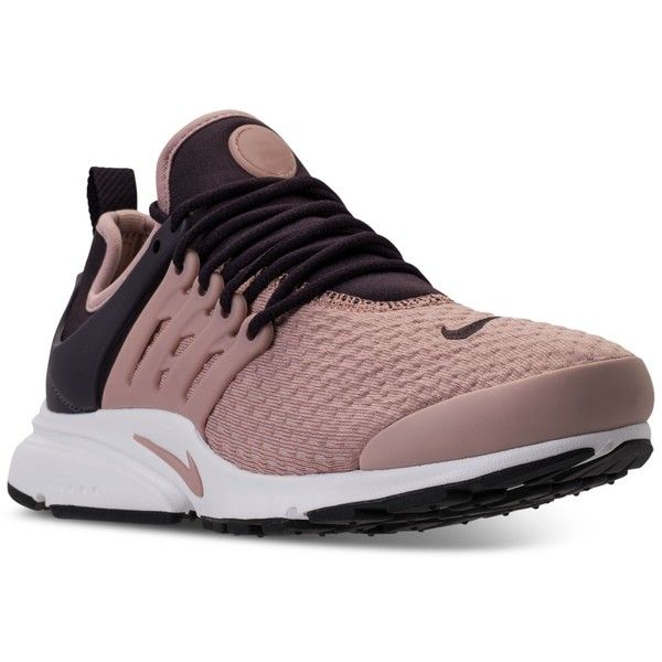 Nike Women's Air Presto Running Sneakers from Finish Line ($120) ❤ liked on Polyvore featuring shoes, stretch shoes, nike, mesh shoes, stretchy shoes and nike footwear