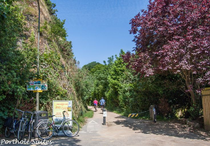 Cycle hire and Corbiere Walk, just a few metres from Porthole Suites' front door.