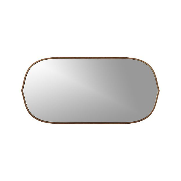 Penarth Walnut Oval Wall Mirror Crate And Barrel Wall Mirrors Crate And Barrel And Style