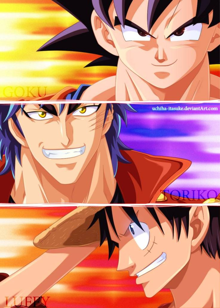 Toriko, Son, and Luffyya and all the feels to go along