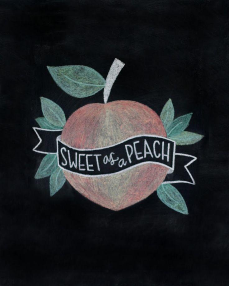 Sweet as a Peach Chalkboard Print (Little Baby Garvin)