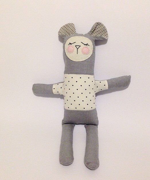 Zoe the dreaming plush toy for babies $25 by LilMeegs on Etsy