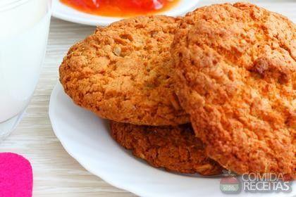 Receita de Cookies de aveia - Comida e Receitas