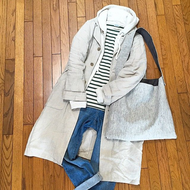 248  2015.4.16  服の記録 ・ ・ 今日は気持ちいいなぁ〜 ・ コート着たら汗ばむ汗ばむ。。 ・ #ORCIVAL のグリーンボーダーお迎えしました ・ 写真では分かりずらいですが… ・ 落ち着いたグリーンのラインがなかなか◎ ・ やはり色違いでほしくなりますね! ・ ・ #ORCIVAL #オーチバル #オーシバル #ドロップショルダープルオーバー #ボーダー #しましま #sympa #リネンコート #MUJI #無印良品 #パーカー #バロウズアンドサン #デニムパンツ  #ハンドメイド #リネンバッグ #置き画くら部 #置き画 #今日のコーデ #ナチュラルコーデ #s_a_w_a_y_aコーデ