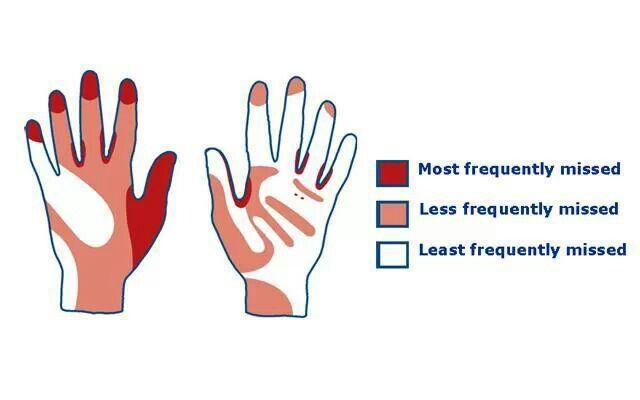 Handwashing areas most frequently missed hand washing amp hygiene