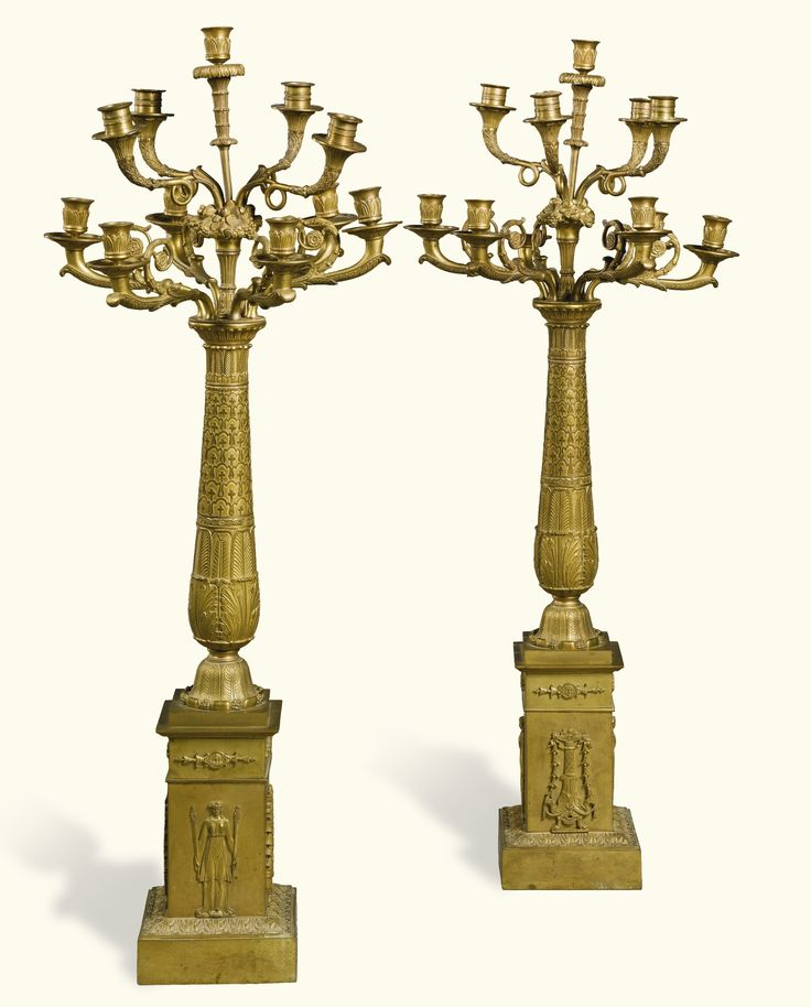 A pair of Empire gilt-bronze eleven-light candelabra circa 1815 | Lot | Sotheby's