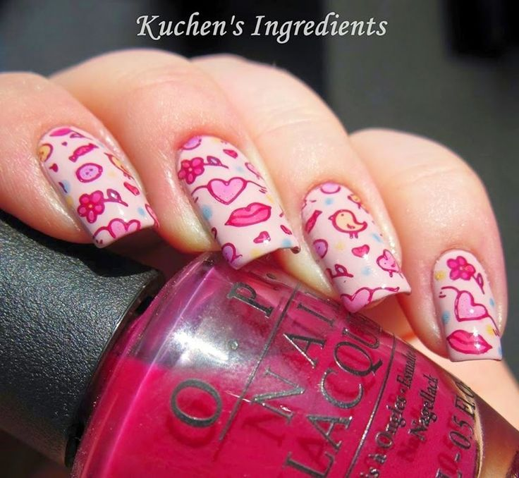 Here are 55 Valentines day nail designs